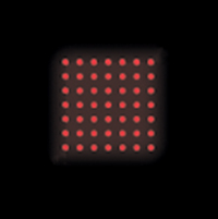 Dot Matrix Red Laser Diffraction Pattern